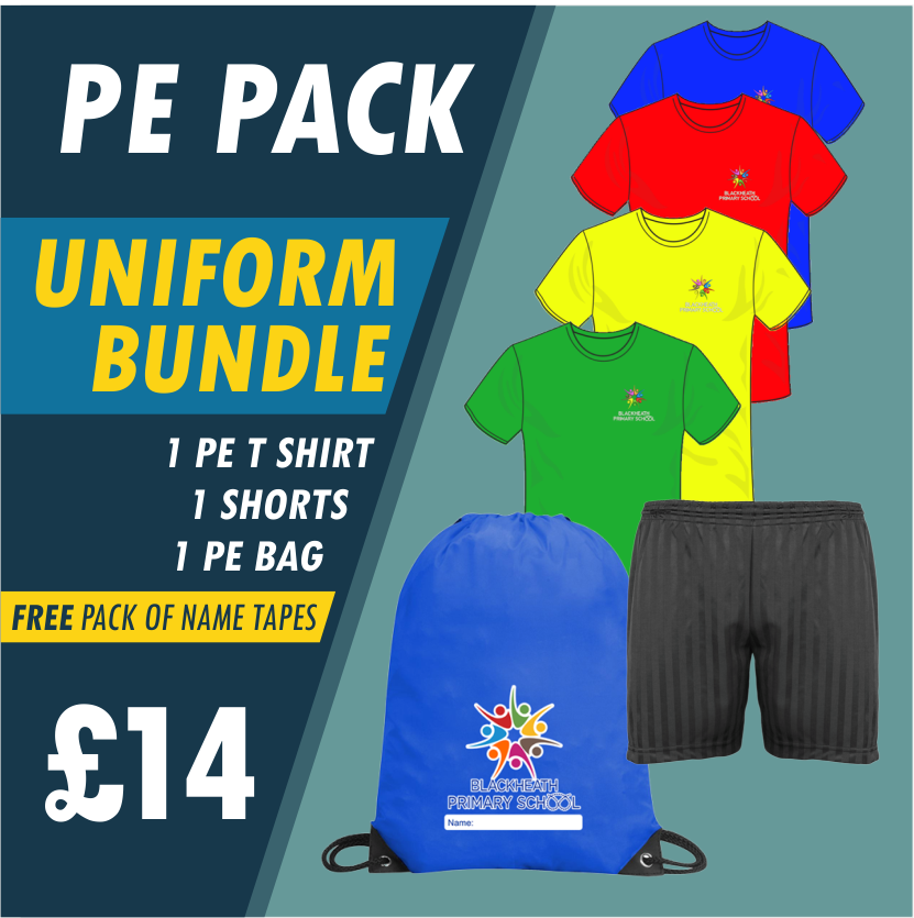Bundle offer of T Shirt, Shorts and a PE Bag! - FREE NAME TAPES!